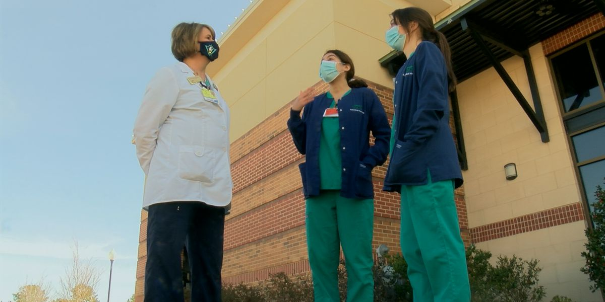 UNCW nursing students enjoy front row seats making history, administer vaccine at movie theater clinic