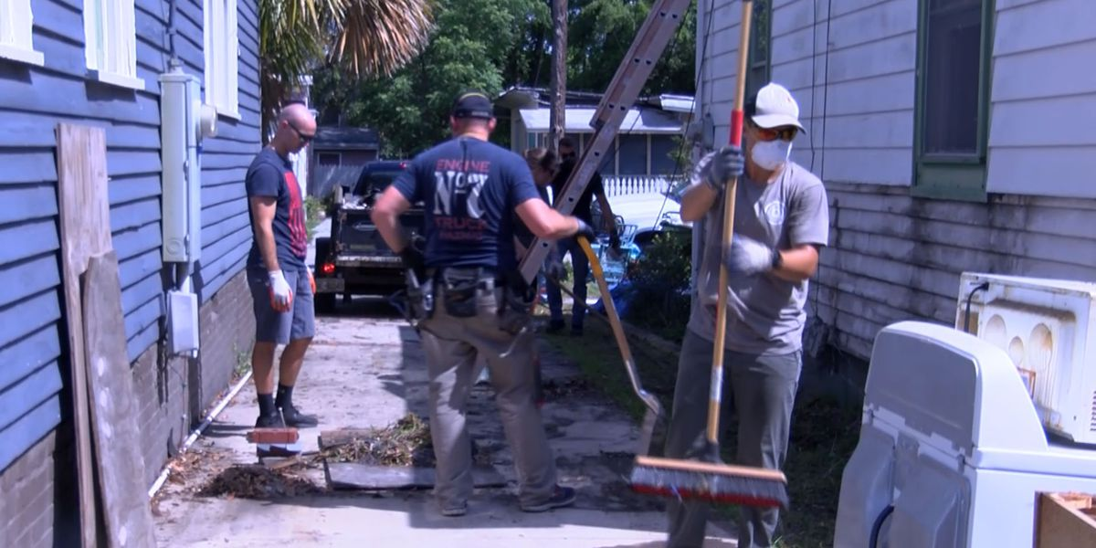 First responders work together to repair home damaged by Hurricane Florence