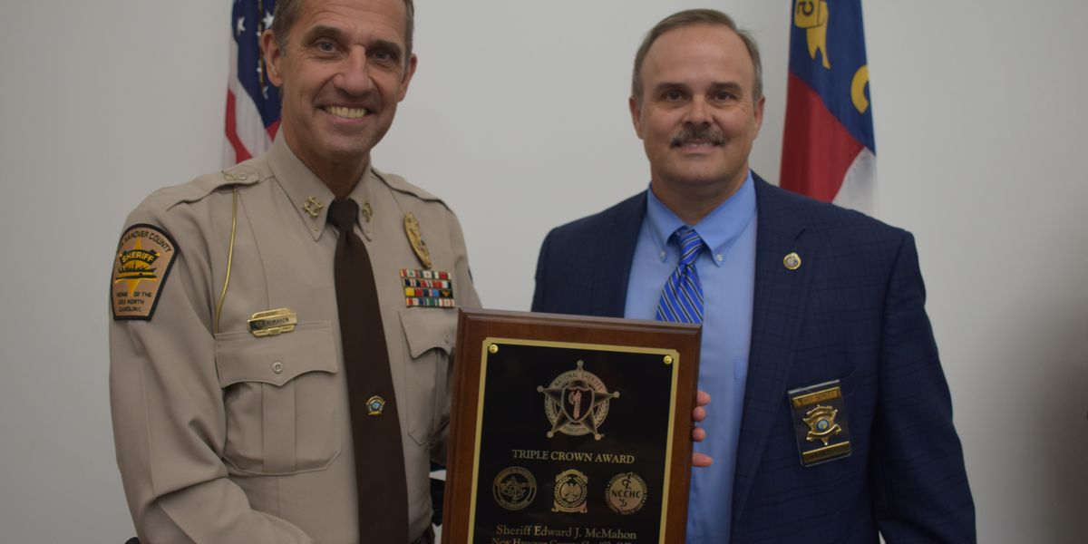 New Hanover Co. Sheriff's Office becomes first to earn Triple Crown Award