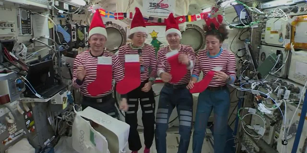 Christmas on the International Space Station