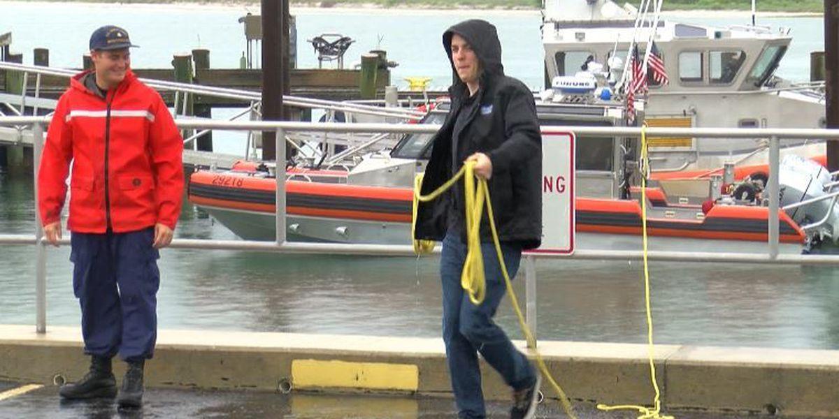 NASCAR driver Alex Bowman visits Coast Guard station in Wrightsville Beach