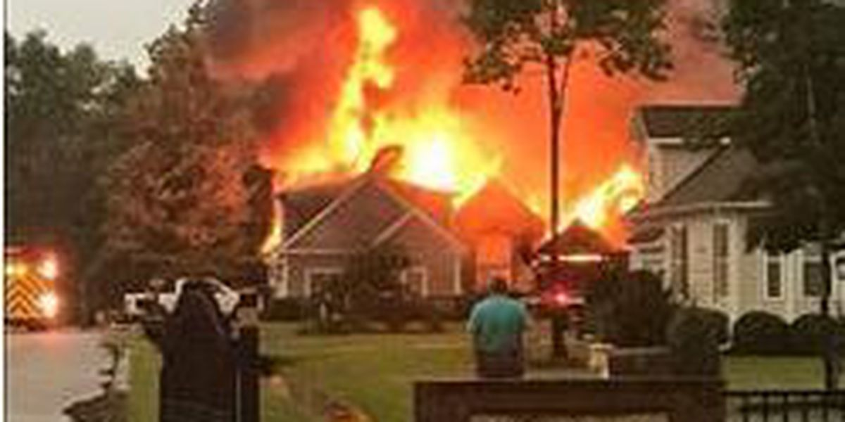 Lightning strike causes fire at Hampstead home