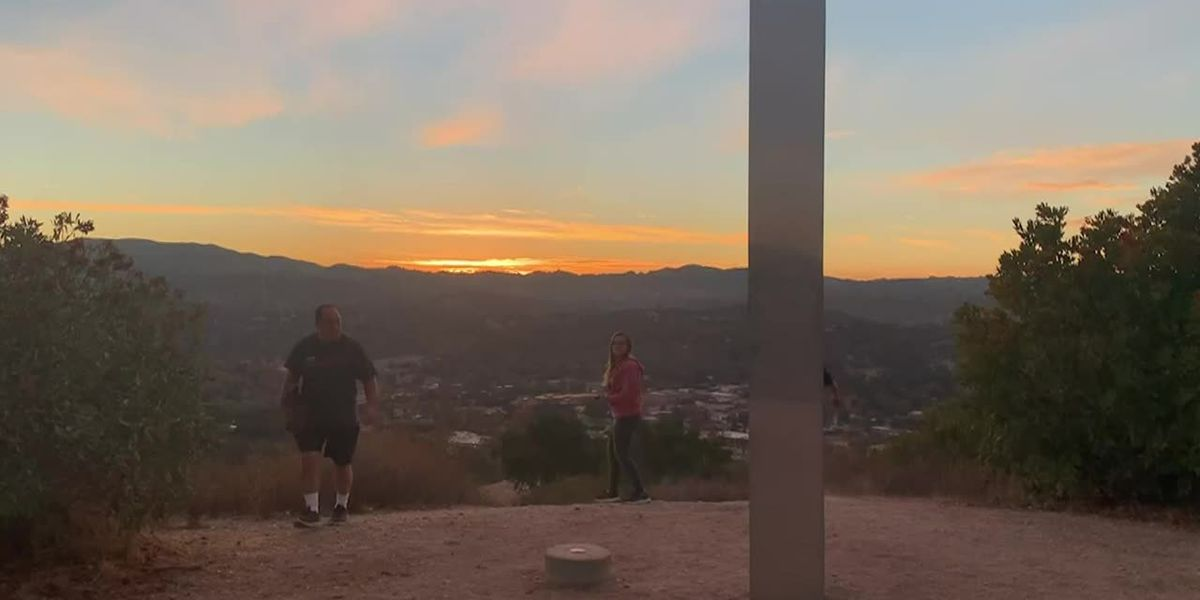 Another monolith appears on Calif. hiking trail