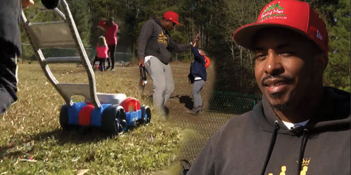 Man mowing lawns across America teaches S.C. pre-schoolers to 'give before they receive'