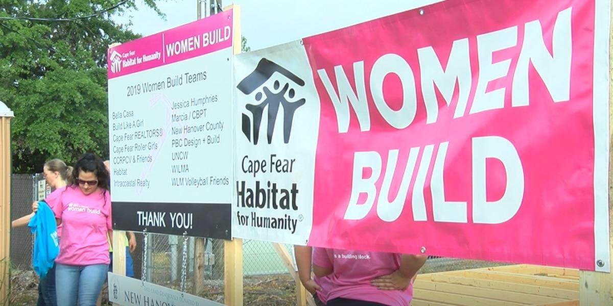 Women team up to build Habitat home