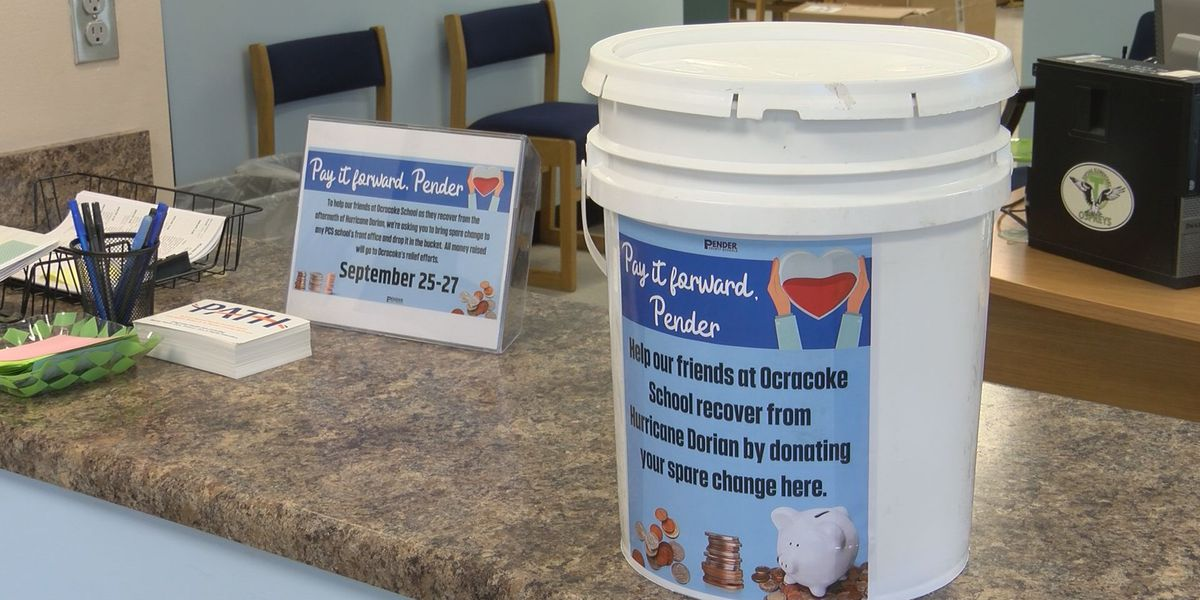 Pender County schools collecting change for Ocracoke