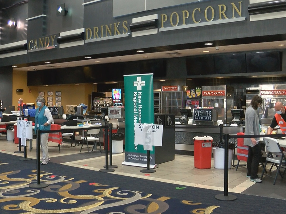 NHRMC vaccination center in full swing at Wilmington movie theater