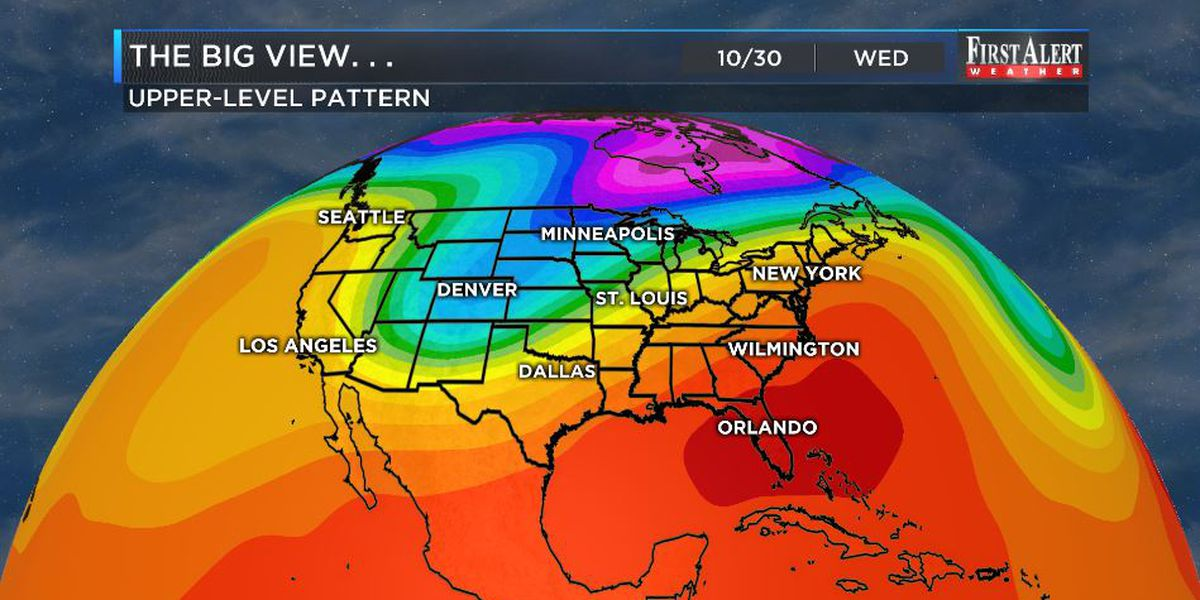 First Alert Forecast: humid, low rain chances to start the week