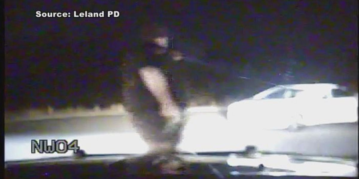 Dashcam video released of shooting that nearly killed Leland police officer