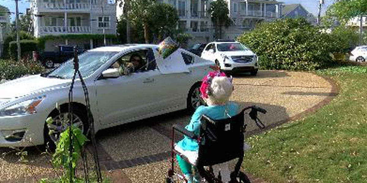 Wrightsville Beach woman celebrates 98th birthday with parade in driveway
