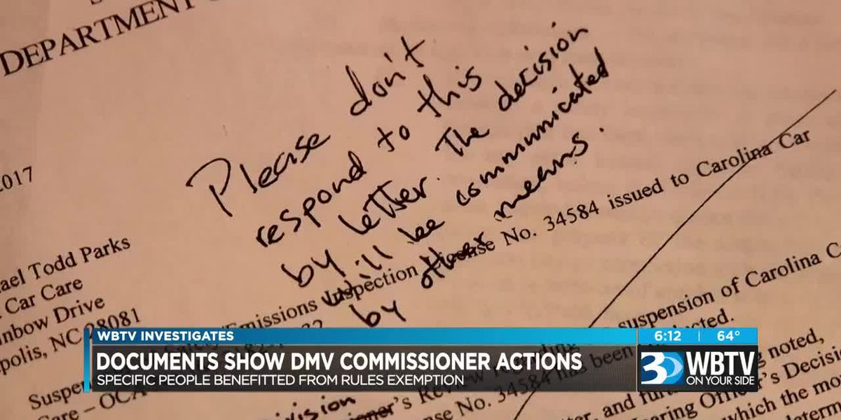 Documents show DMV commissioner actions