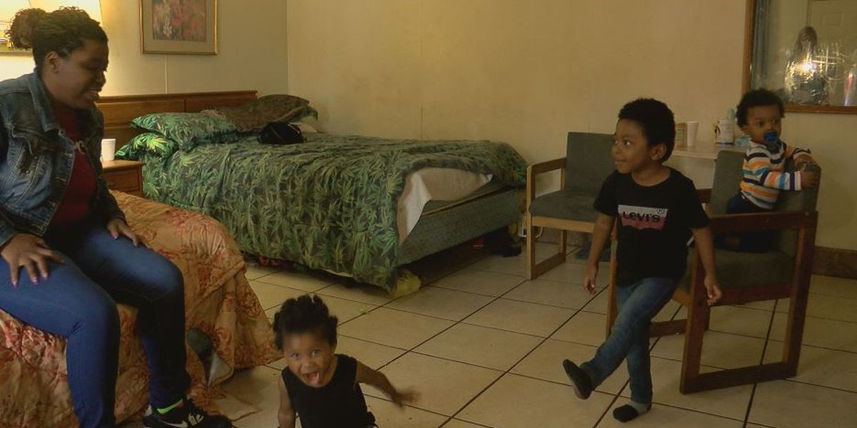 'I want to cry': Woman, three children cramped in $30 a night motel still reeling after Florence