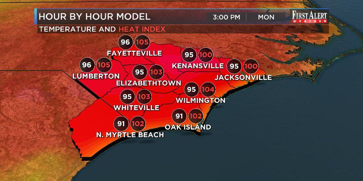 First Alert Forecast: lots of heat! ...but no tropical threats