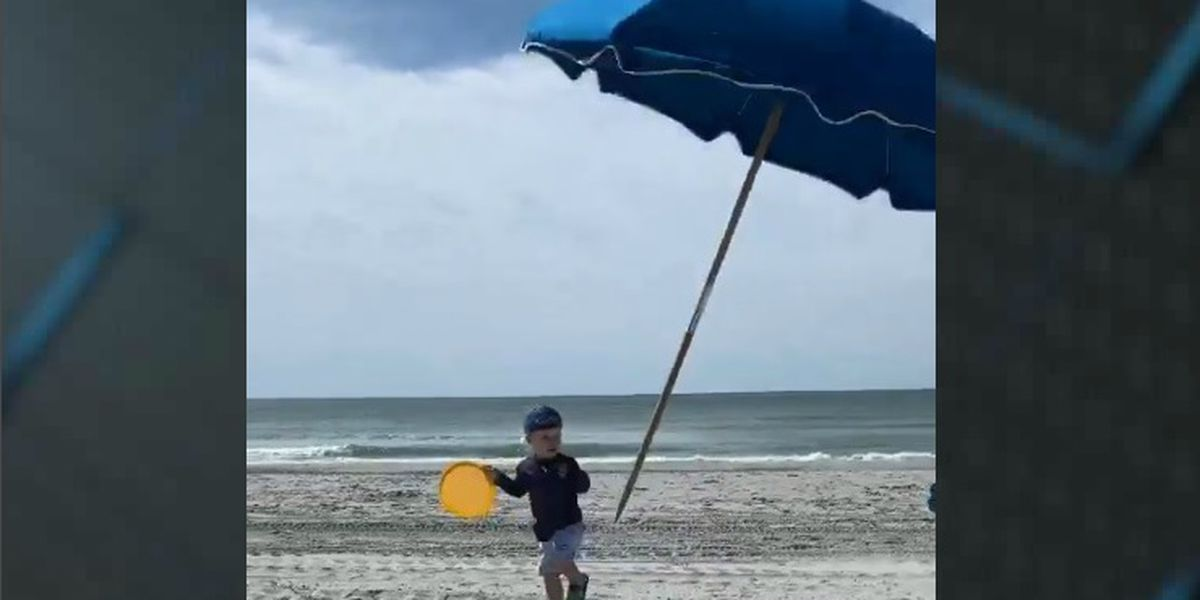 'I have never felt so shocked and terrified:' Toddler nearly impaled by umbrella along Grand Strand