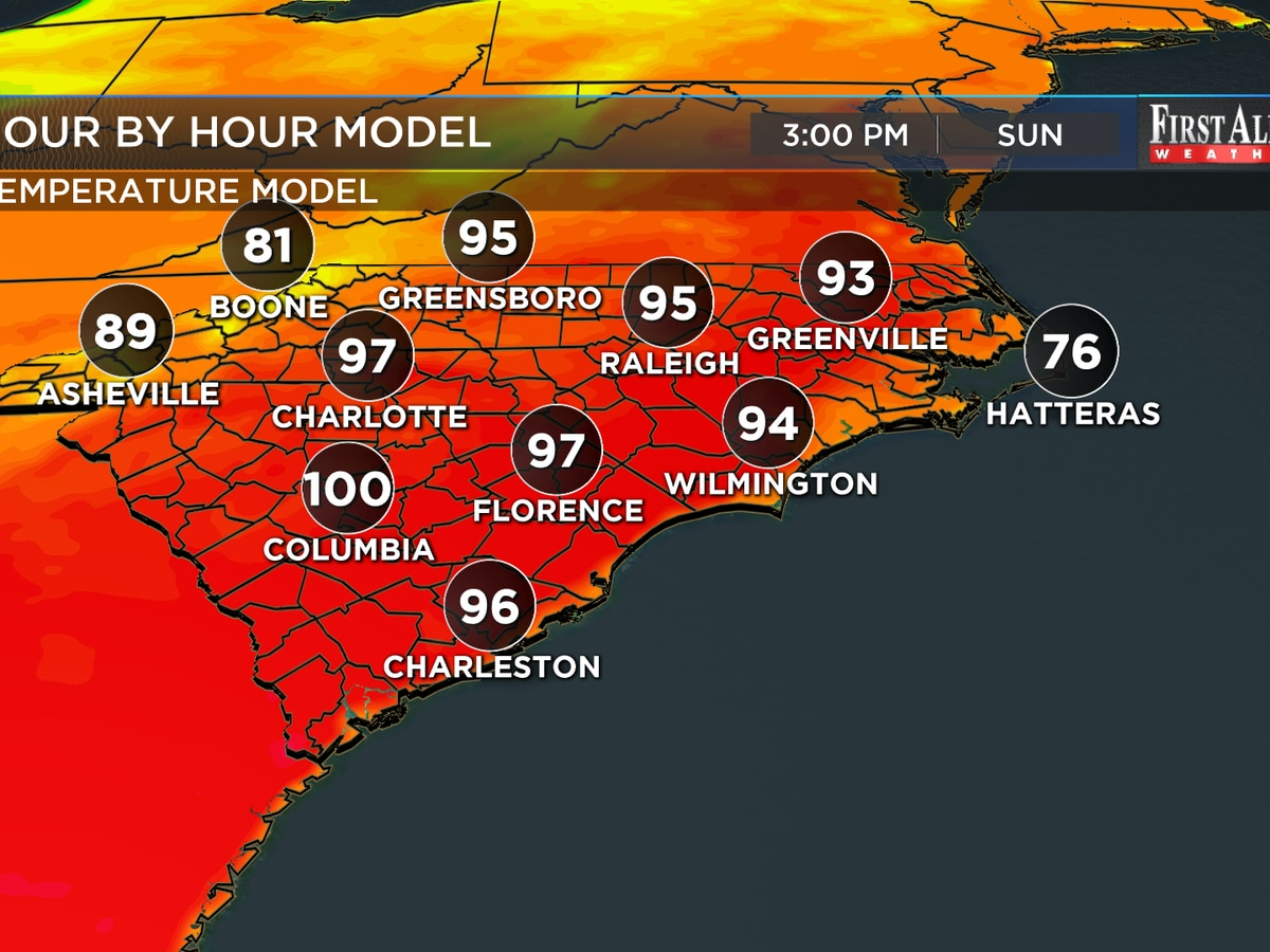 First Alert Forecast: Near record high temps as Memorial Day approaches