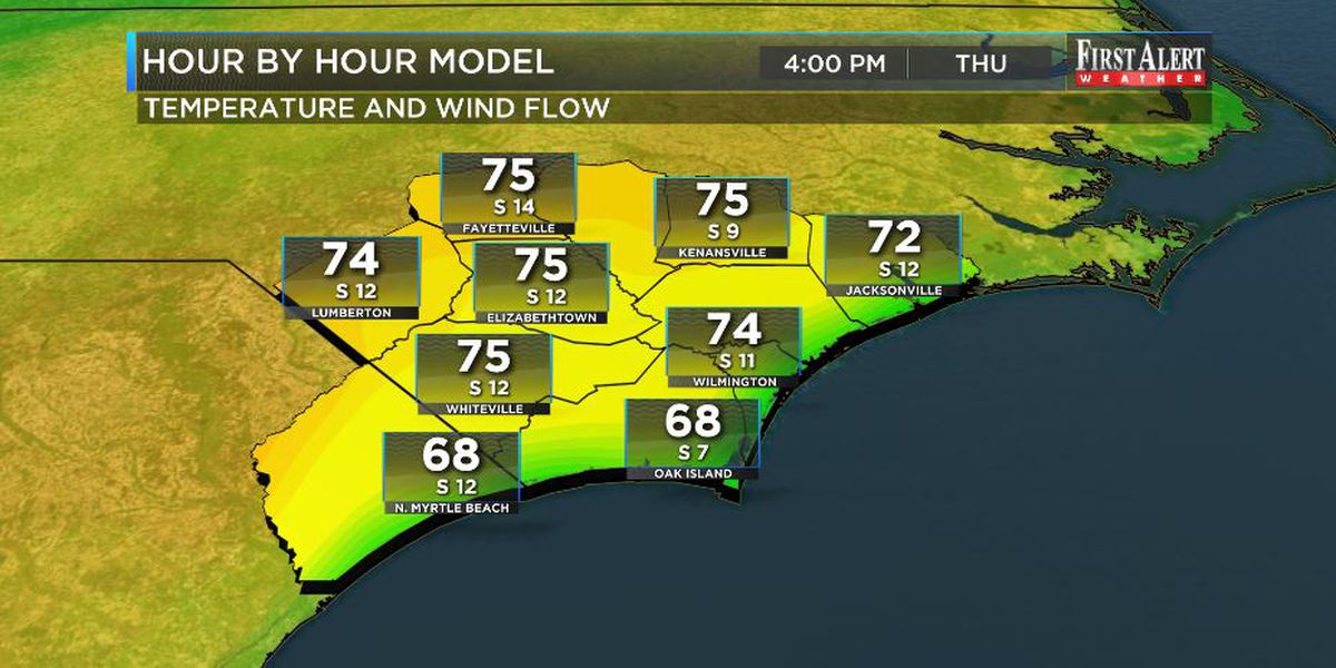 First Alert Forecast: temps turning up Thursday and Friday but another cool shot to follow
