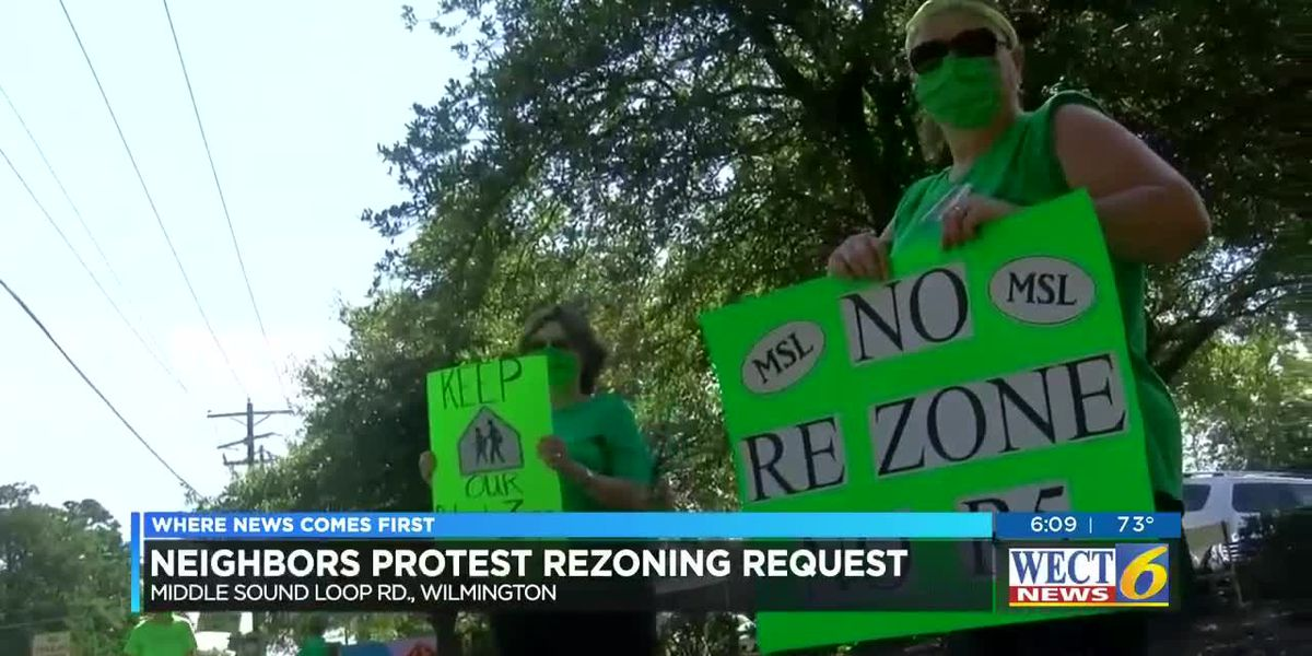 Neighbors protest planned development