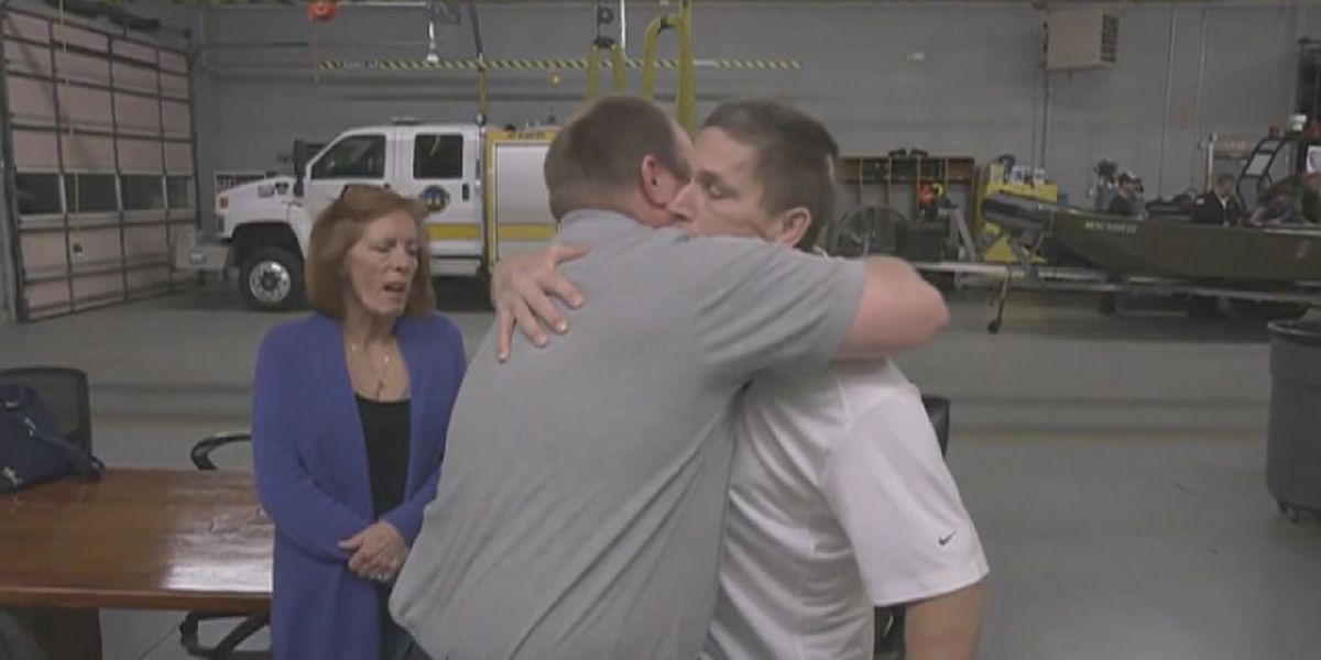 House fire survivor thanks firefighter for saving his life