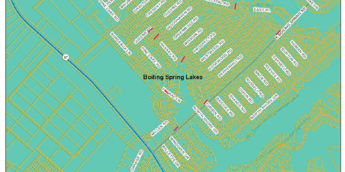 TRAFFIC ALERT: Road closures planned for Boiling Spring Lakes