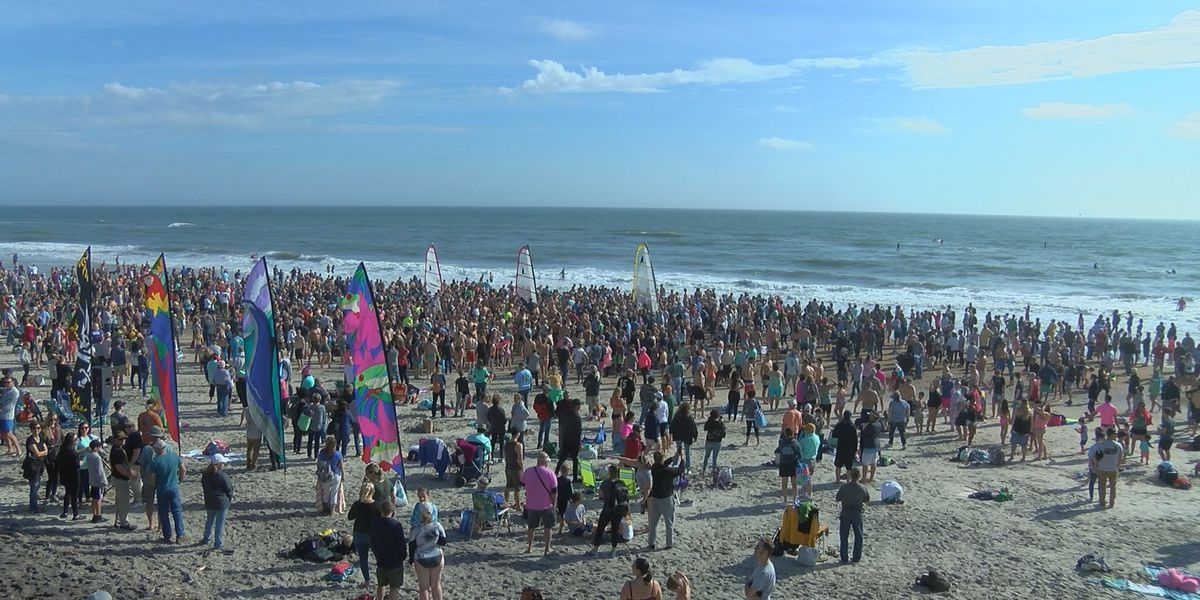 Dolphin Dip a bright spot for Surf City after long year