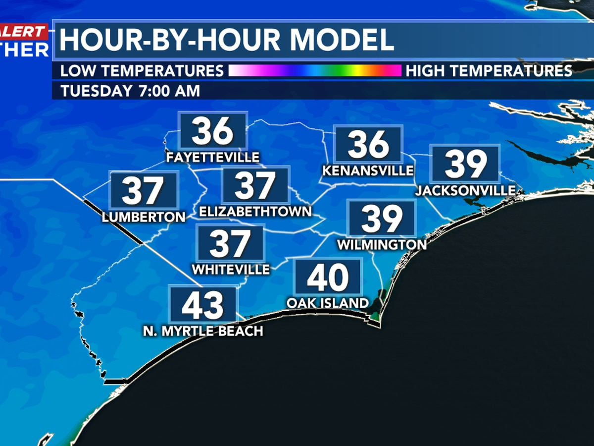 First Alert Forecast: up and down temperatures this holiday week