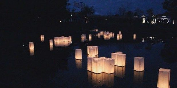 Remember and reflect at floating lantern ceremony