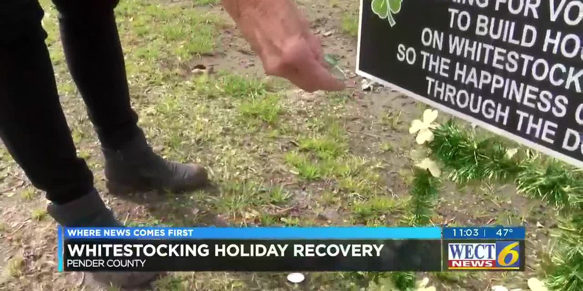 Kure Beach woman makes St. Patrick's Day signs for Whitestocking road