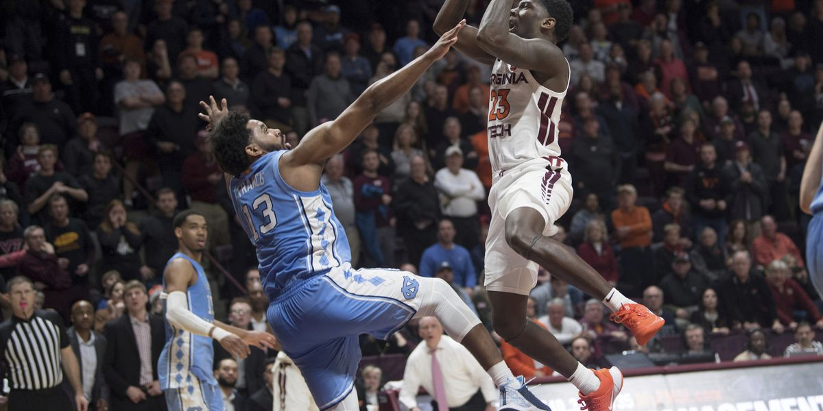 Radford shot lifts Hokies in 2nd OT, 79-77, over UNC