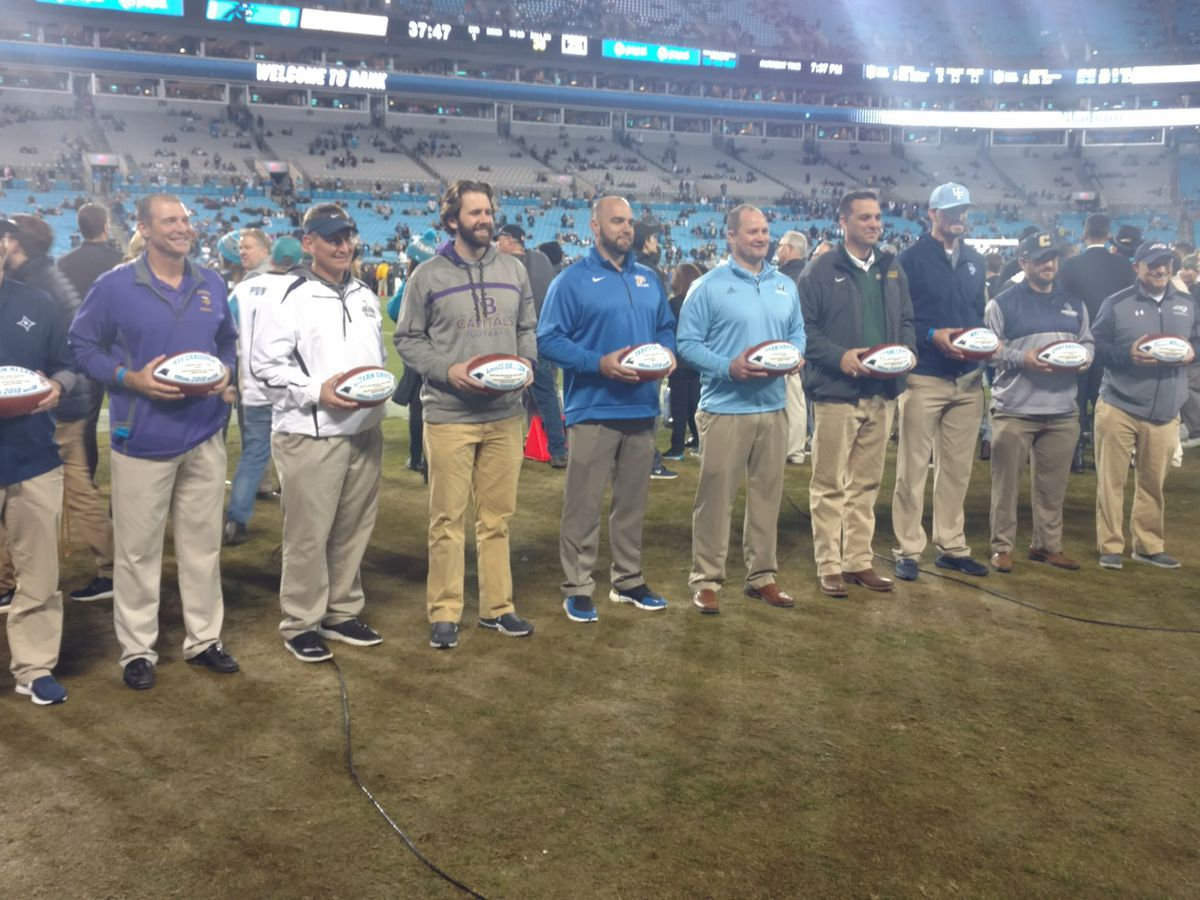 Carolina Panthers honor North Brunswick High School football coach