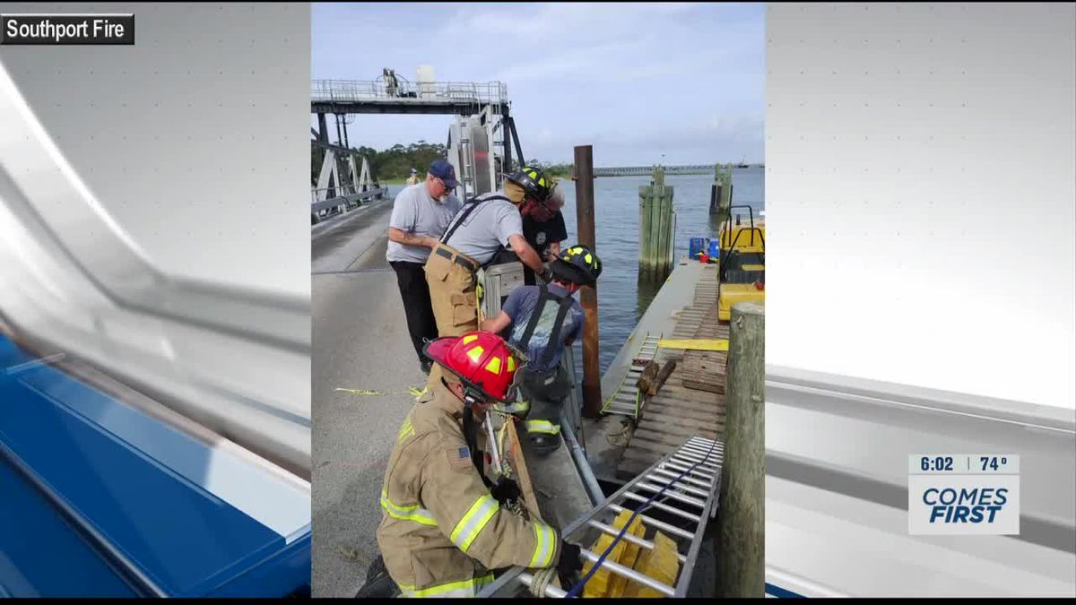 Man recovering from accident at Southport Ferry terminal