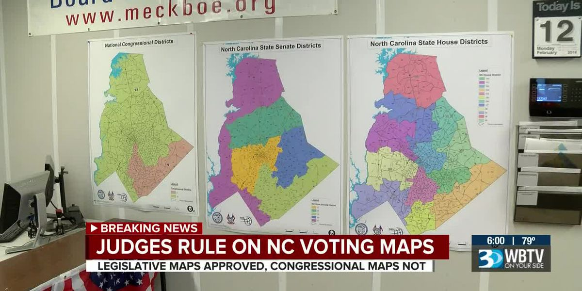 NC judges approve legislative maps, rule against congressional maps in 2020 elections