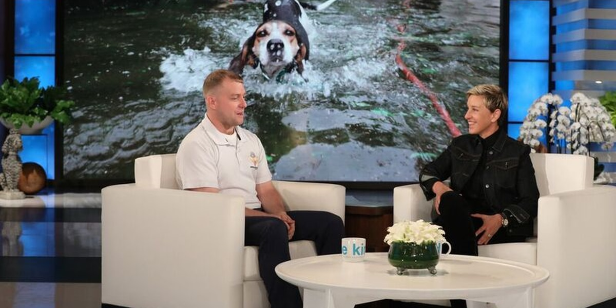 Man who rescued people, animals from hurricane honored on 'Ellen'