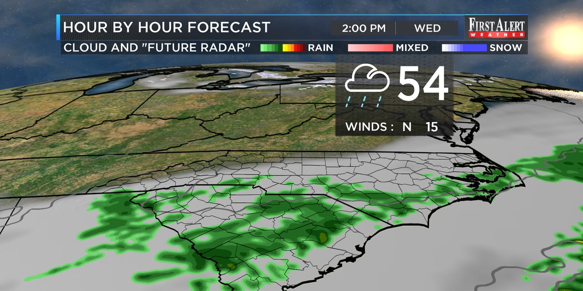 First Alert Forecast: first warmer, then much colder with precipitation on the way