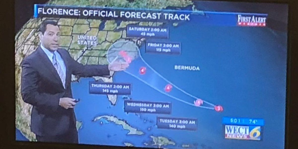 A behind-the-scenes look at WECT's Hurricane Florence coverage