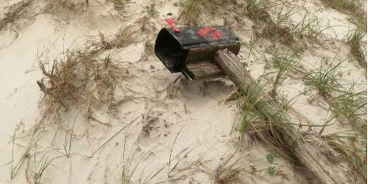Sunset Beach Kindred Spirit mailbox re-installed after being washed away by Tropical Storm Ana