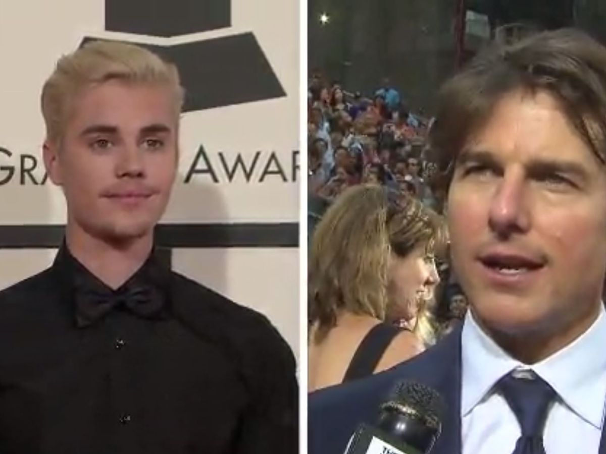 Justin Bieber challenges Tom Cruise to a fight on Twitter