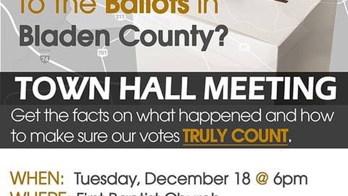 Bladen County Town Hall: What happened to the ballots in Bladen County?