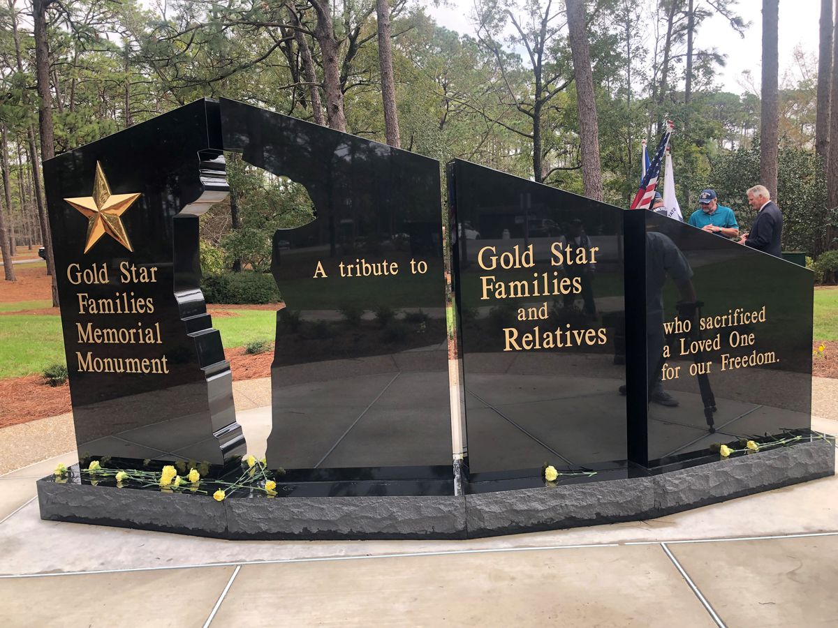 Wilmington home to North Carolina's first Gold Star Families Memorial Monument
