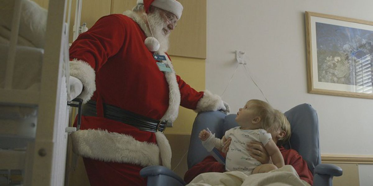 Here comes Santa Claus… right down to the NHRMC Pediatrics Unit