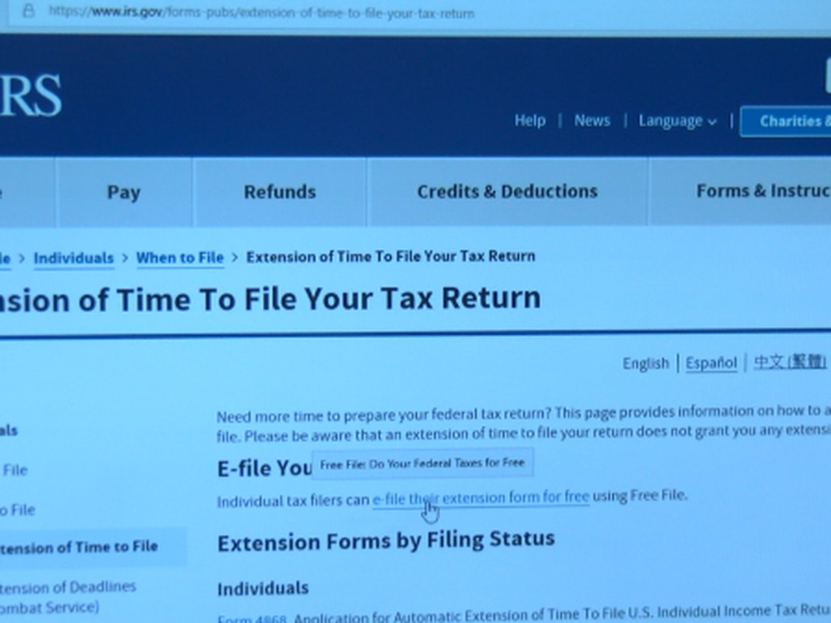 Deadline to file tax returns is Monday at midnight