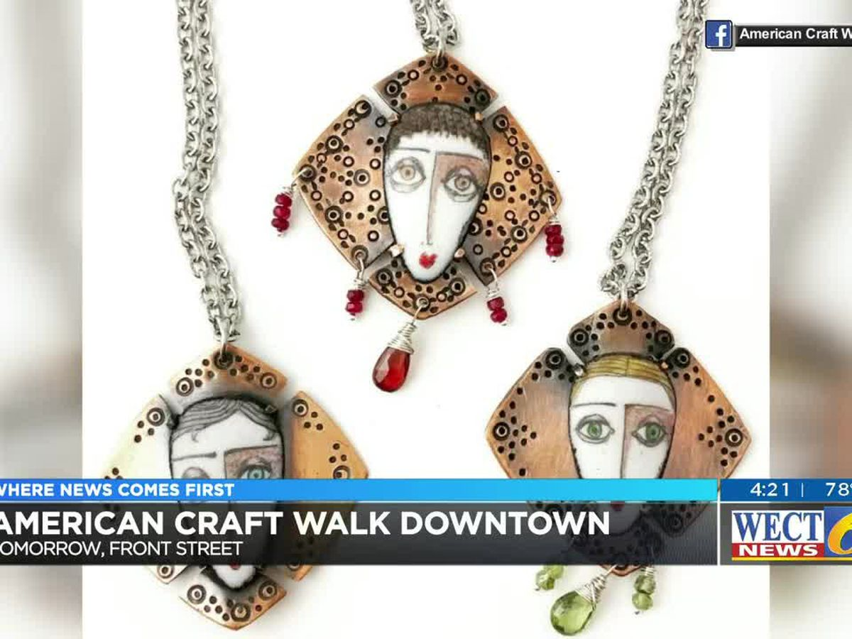 Dozens of vendors will set up shop in downtown Wilmington as part of the American Craft Walk