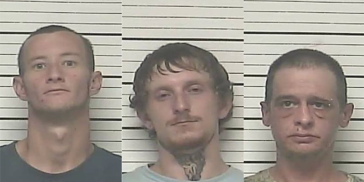 Traffic stop leads to trio of arrests on heroin-related charges