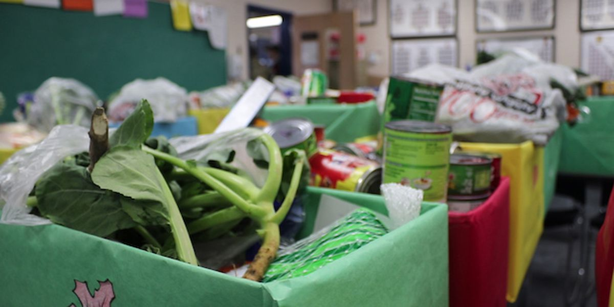 NBHS JROTC gives Thanksgiving gift baskets to those in need