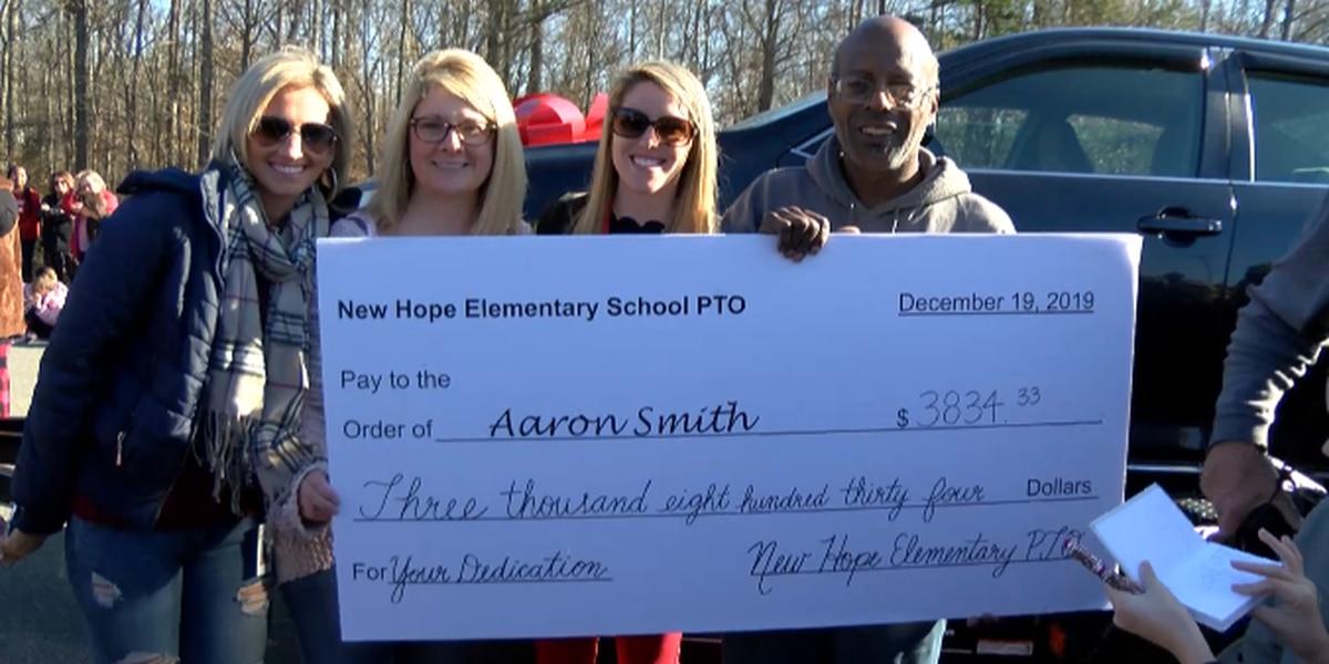 Gaston County elementary school raises money to gift custodian a car
