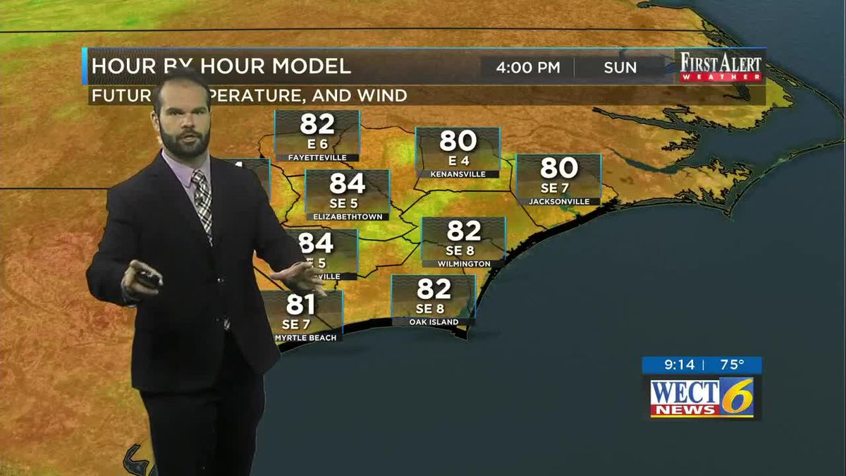 First Alert Forecast: Unsettled Sunday, Hot Temps for the week ahead