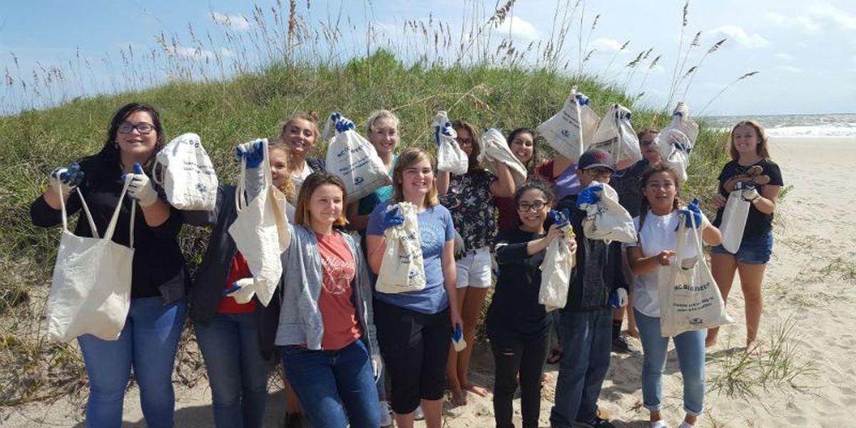 Teen Ocean Stewards organizing beach cleanup effort