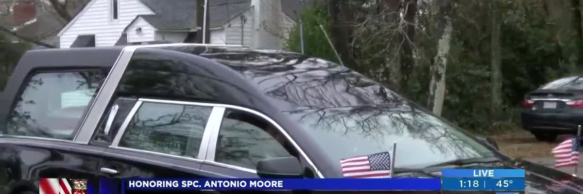 LIVE: Procession honoring N.C. soldier killed overseas (41st Street)
