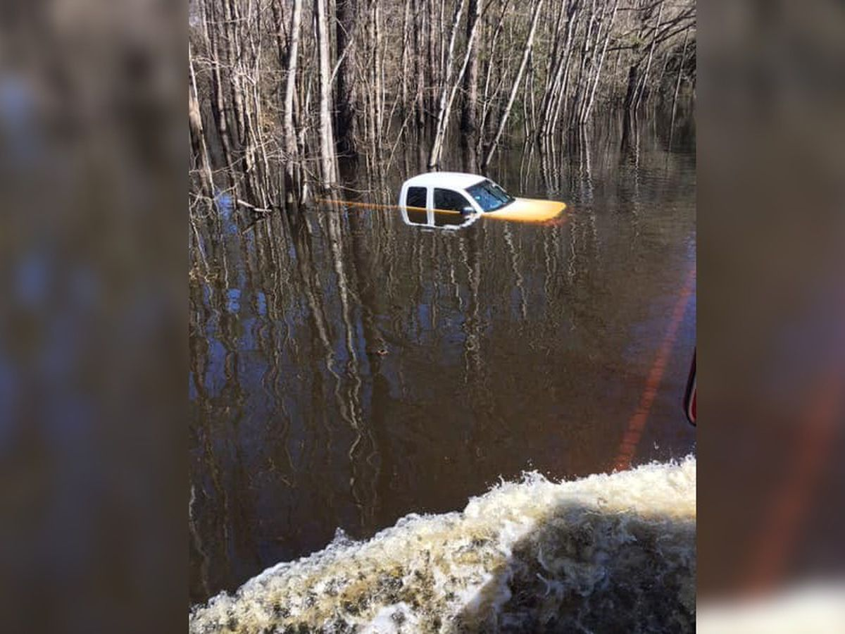 Brunswick County Sheriff's Office warns drivers of flooding dangers after truck sinks in high water