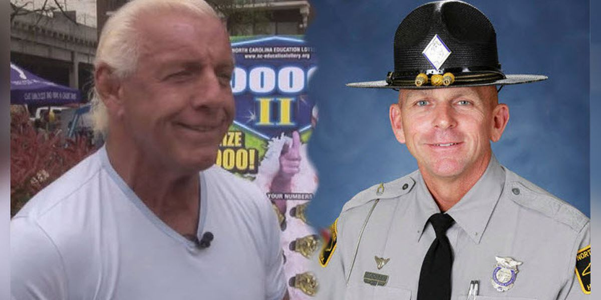 Ric Flair sends special message to NC trooper critically