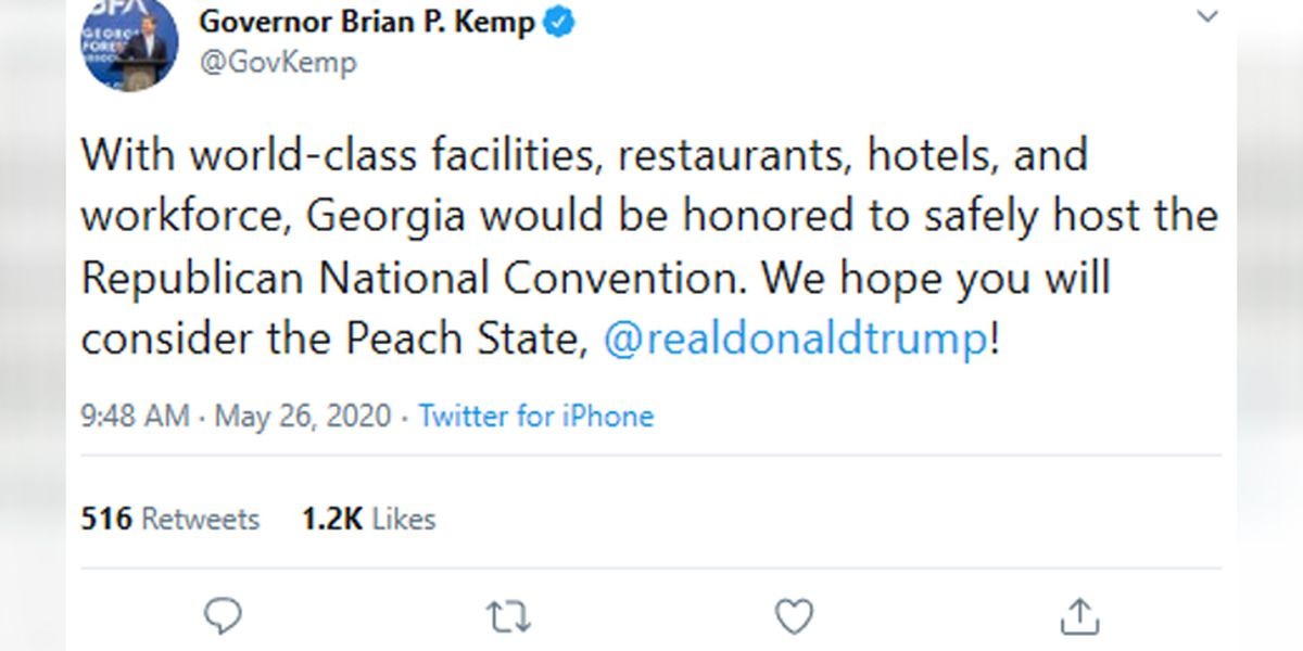 Georgia governor asks Trump to consider hosting RNC in Peach State following threat of pulling convention from Charlotte
